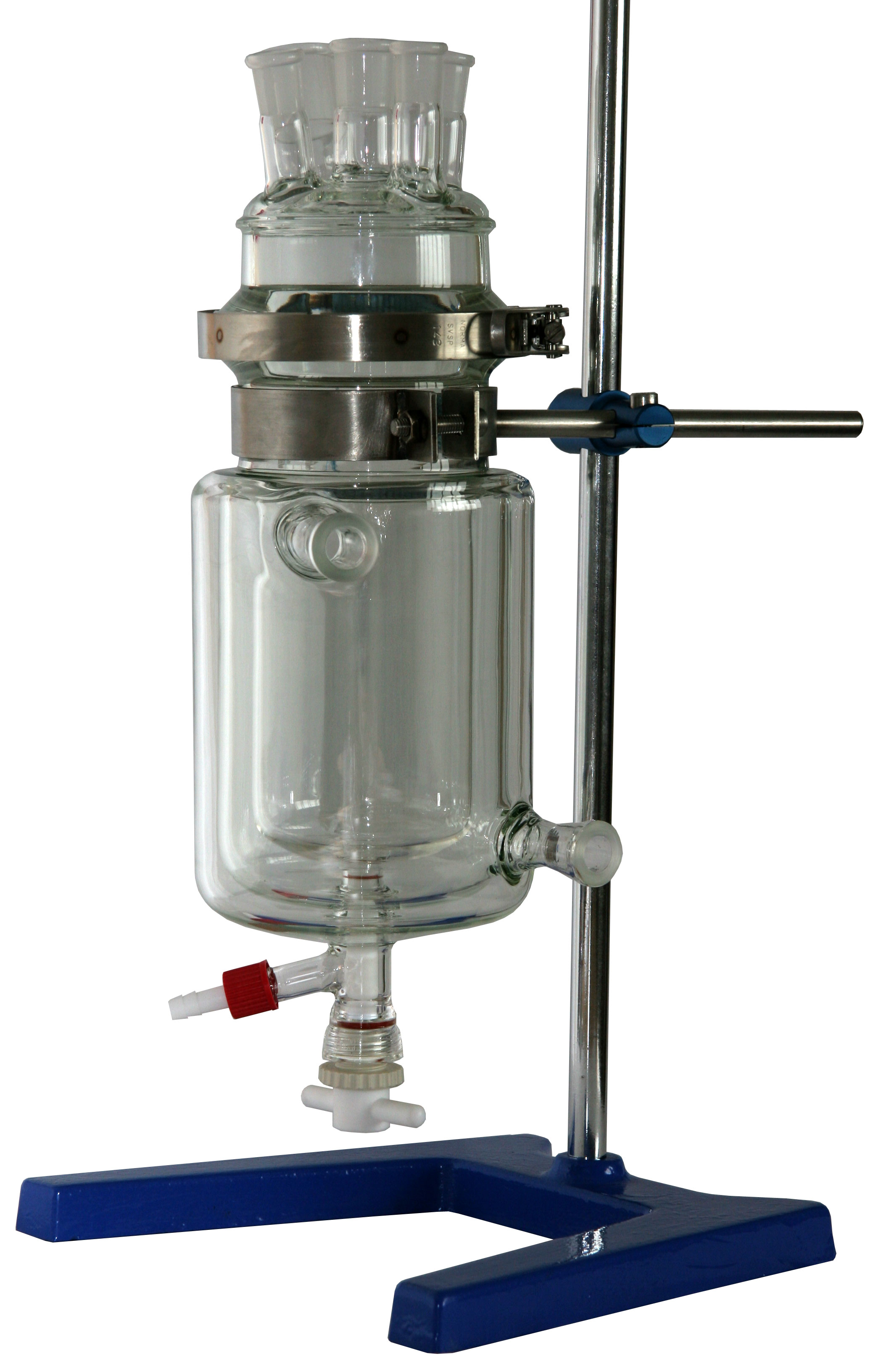ReactoMate jacketed reaction system with Basic Support Stand