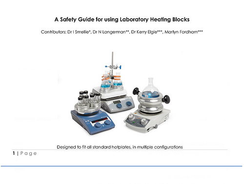 Best practice guide to safe use of laboratory heating blocks DrySyn