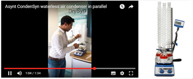 Asynt waterless air condenser CondenSyn in parallel chemistry