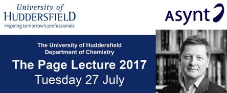 The Page Lecture 2017 with Asynt chemistry