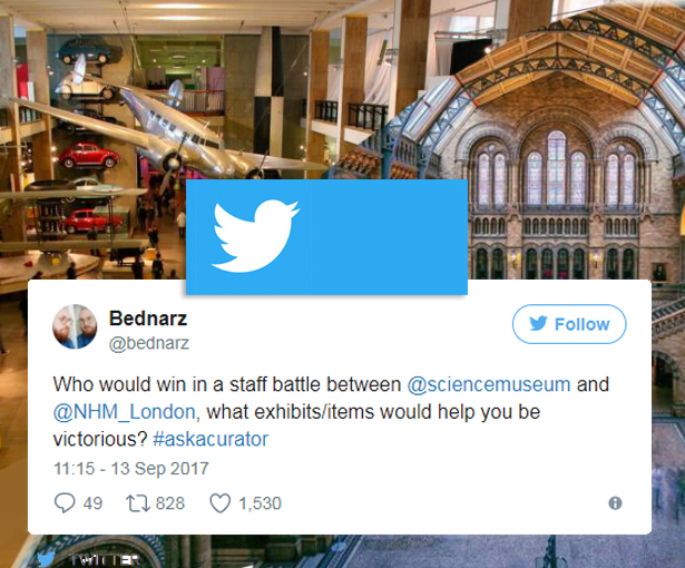 Science Museum and Natural History museum twitter battle September 2017