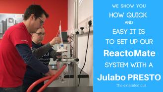 ReactoMate set up with Julabo Presto A30