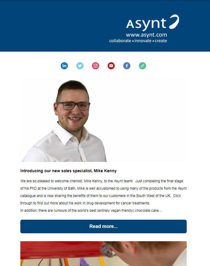 Asynt chemistry newsletter April 2018