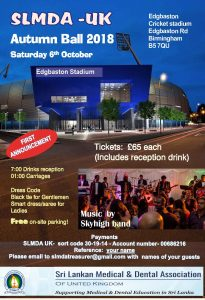 SLMDA Autumn Ball 2018 flyer