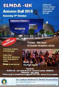 SLMDA Autumn Ball 2018 flyer