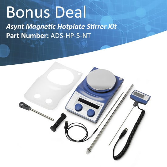 Asynt magnetic hotplate stirrer package deal