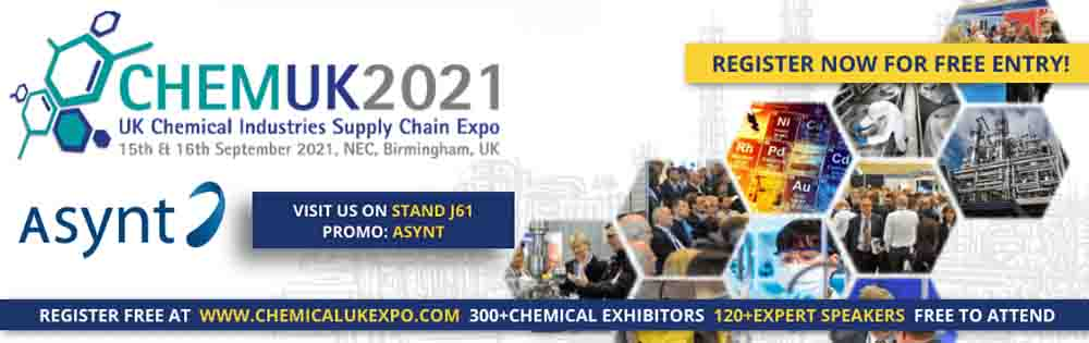 Visit Asynt on stand J61 at CHEMUK 2021