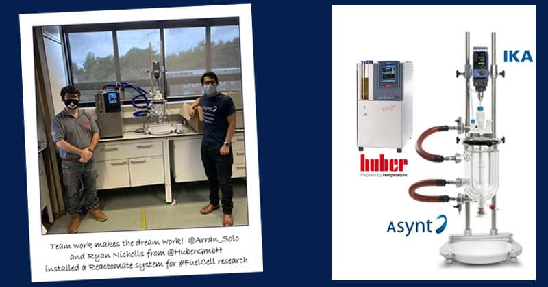Complete chemistry scale-up lab reactor system installation