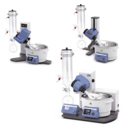 IKA rotary evaporators dry ice condensers with coated glassware