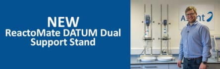 introduction to the ReactoMate DATUM Dual Support Stand for 2 vessels up to 5L each from Asynt chemistry
