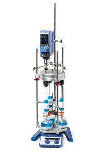 DrySyn Vortex parallel overhead stirring system from Asynt chemistry UK