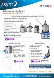 innovative new products from Asynt laboratory supplies UK