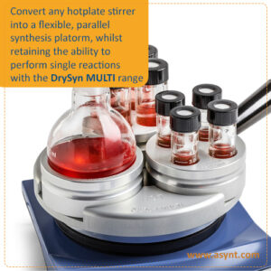DrySyn MULTI for parallel reactions on one laboratory hotplate from Asynt UK